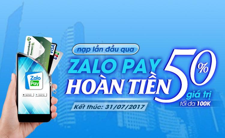 Nap game qua Zalo Pay - Giam ngay 10%